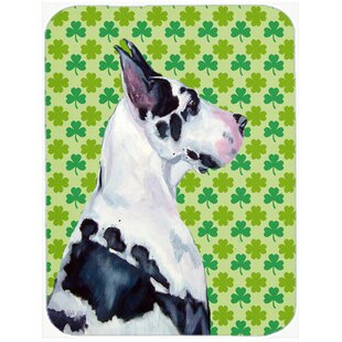 Review Shamrock Lucky Irish Great Dane St. Patrick's Day Portrait Glass Cutting Board By Caroline's Treasures