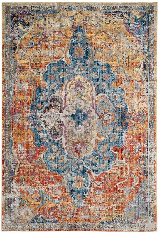 Arapaho Blue/Orange Area Rug