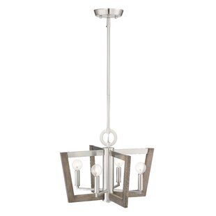 Ariah 4-Light Geometric Chandelier by Brayden Studio