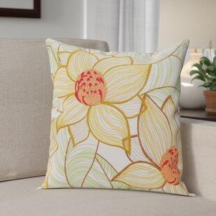 Kayce Sun Flowers Throw Pillow