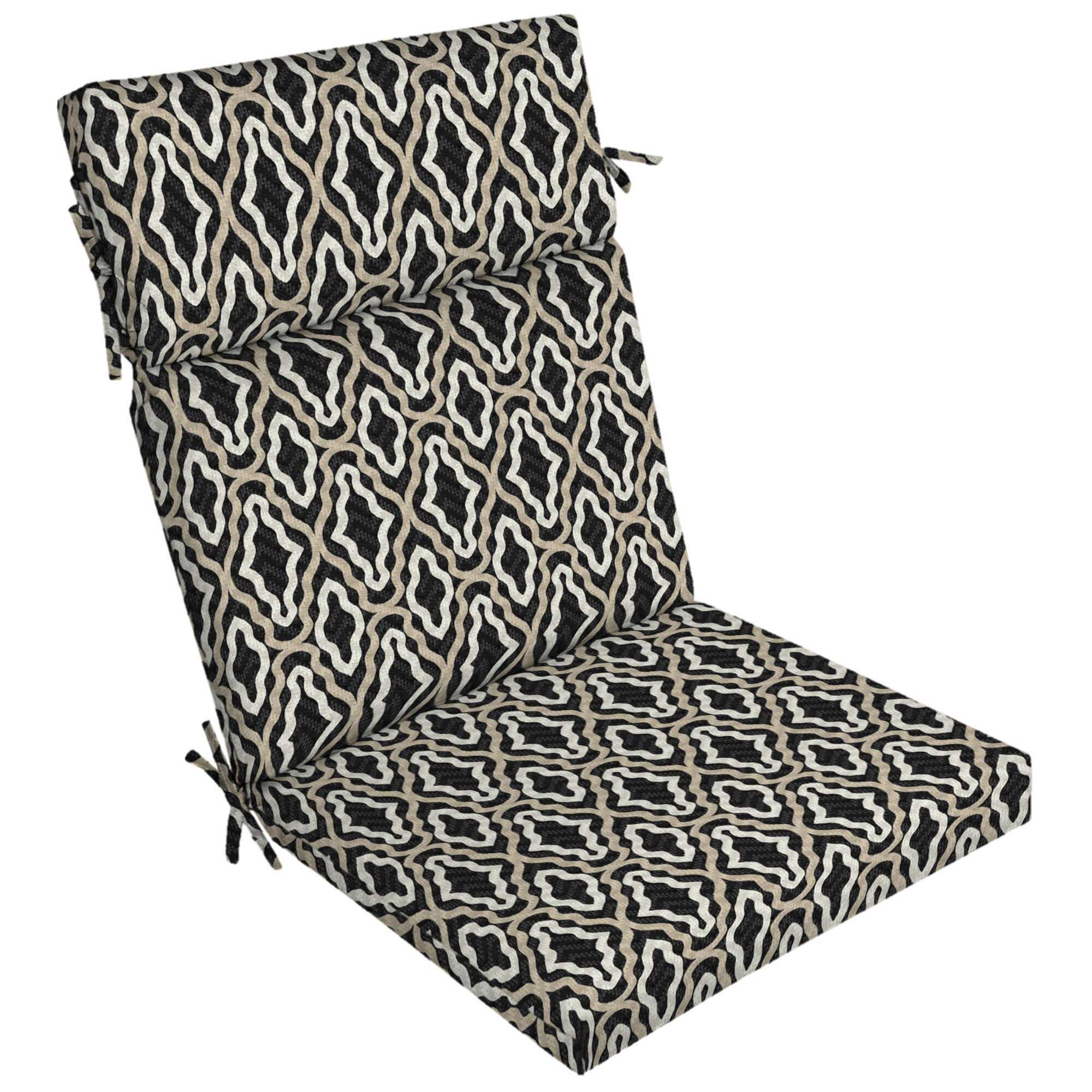 Picture of: Ebern Designs Trellis High Back Outdoor Dining Chair Cushion