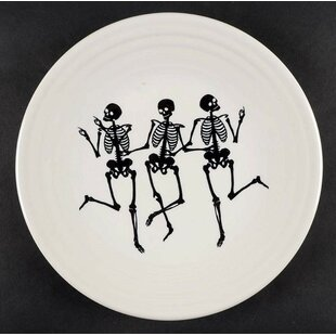trio of skeletons 9 dessert plate by fiesta