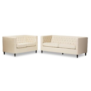 Mcgowen Leather 2 Piece Living Room Set by Ivy Bronx