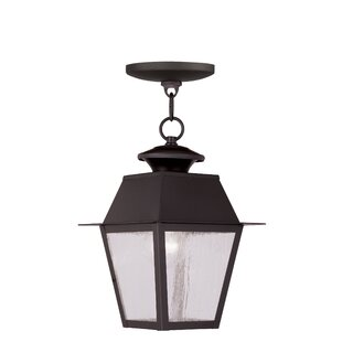 Compare prices Cynda 1-Light Outdoor Hanging Lantern By Darby Home Co