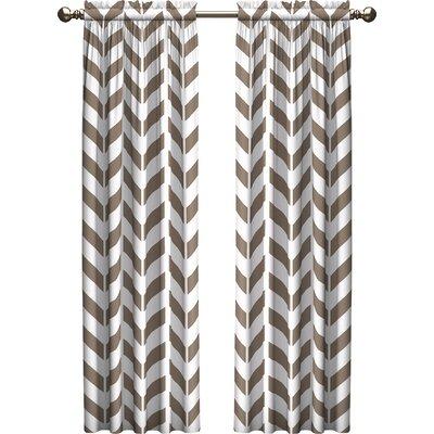 Ebern Designs Bayshore Chevron Light Filtering Rod Pocket Curtain Panels