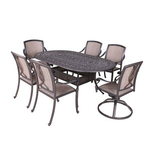 Fleur De Lis Living Gunter 7 Piece Dining Set