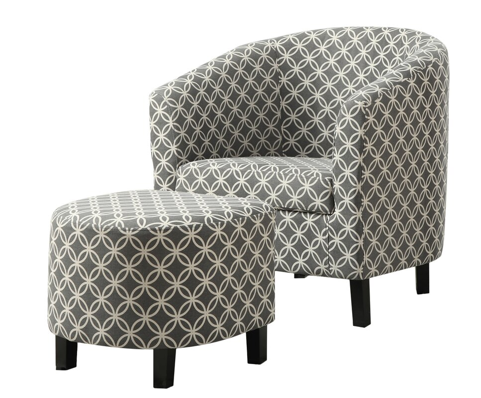 Brownell Barrel Chair And Ottoman Set