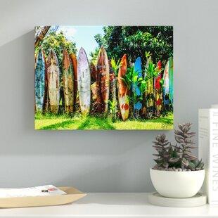 U0027Surfboard Fenceu0027 Photographic Print On Canvas