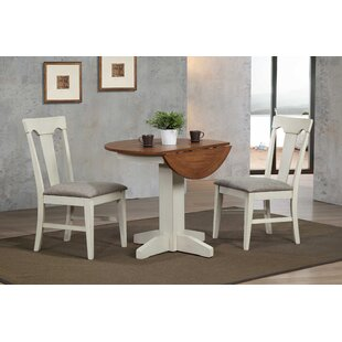 Yvonne 3 Piece Drop Leaf Dining Set