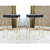 Vikesha Bar & Counter Stool (Set of 2) by Everly Quinn