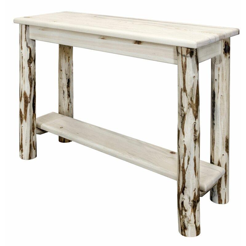 Loon Peak Deleon 42 Solid Wood Console Table Wayfair