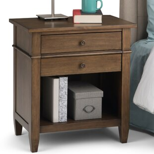 Simpli Home Carlton 2 Drawer Nightstand