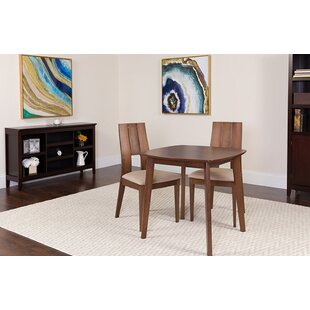 Cosmo 3 Piece Solid Wood Dining Set by Ebern Designs