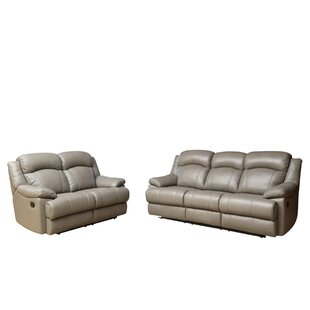 Cuyler 2 Piece Leather Living Room Set by Darby Home Co