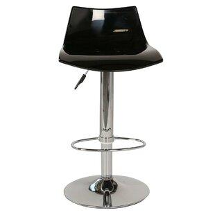 Lucite Adjustable Height Swivel Bar Stool by Joseph Allen