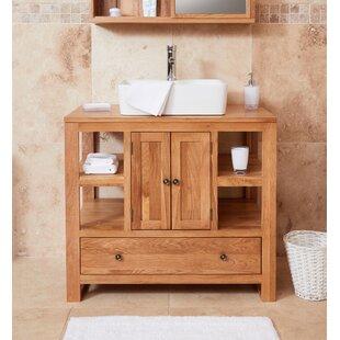 Gagne Solid Oak 55mm Free Standing Vanity Unit By Ebern Designs