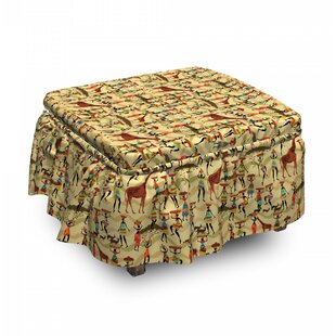 Woman Animals Ottoman Slipcover (Set Of 2) By East Urban Home