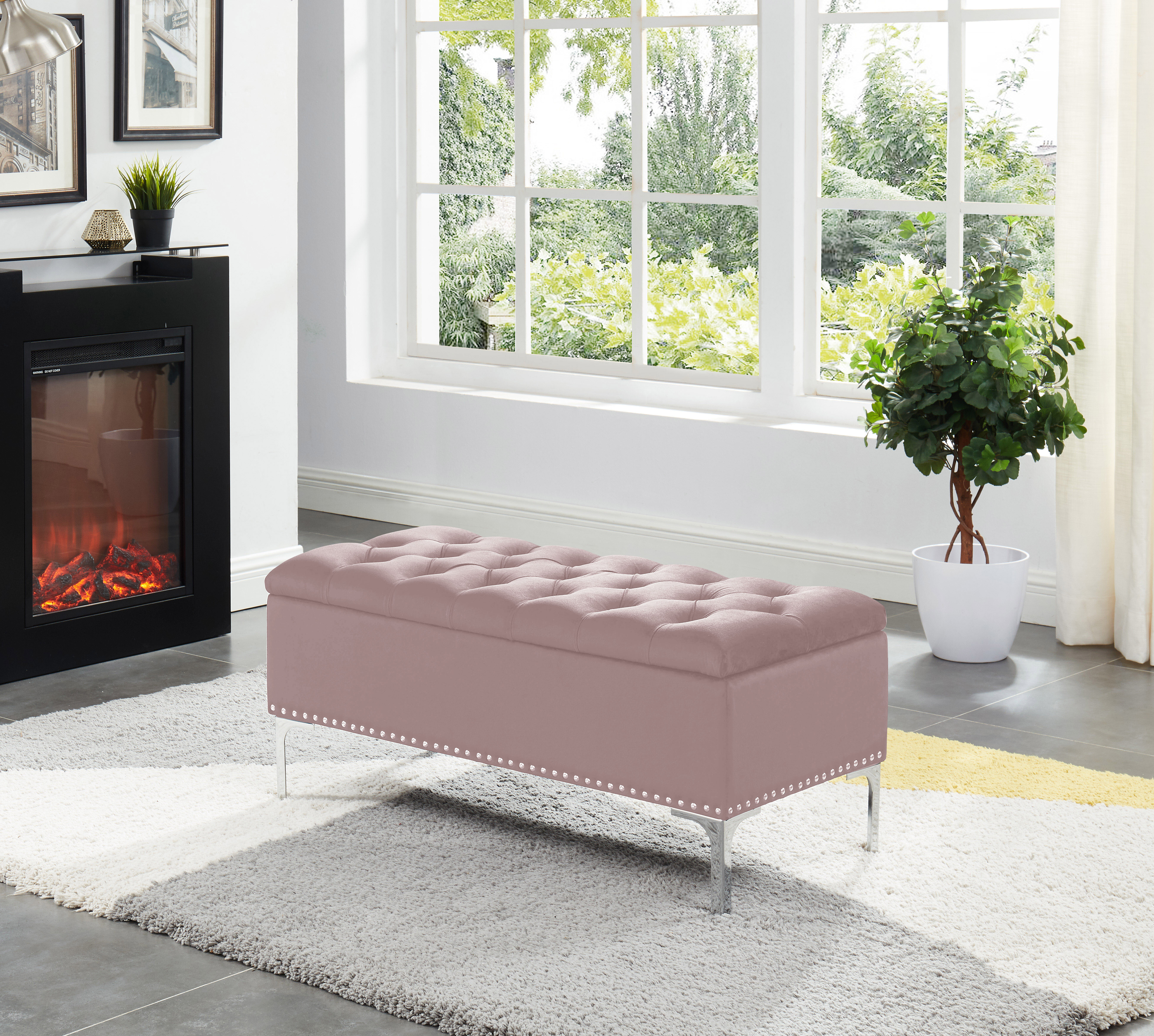 Picture of: House Of Hampton Carmel Barrie Upholstered Flip Top Storage Bench Reviews Wayfair Ca