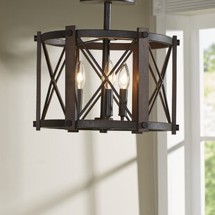 Mancos 3-Light Semi Flush Mount by Trent Austin Design