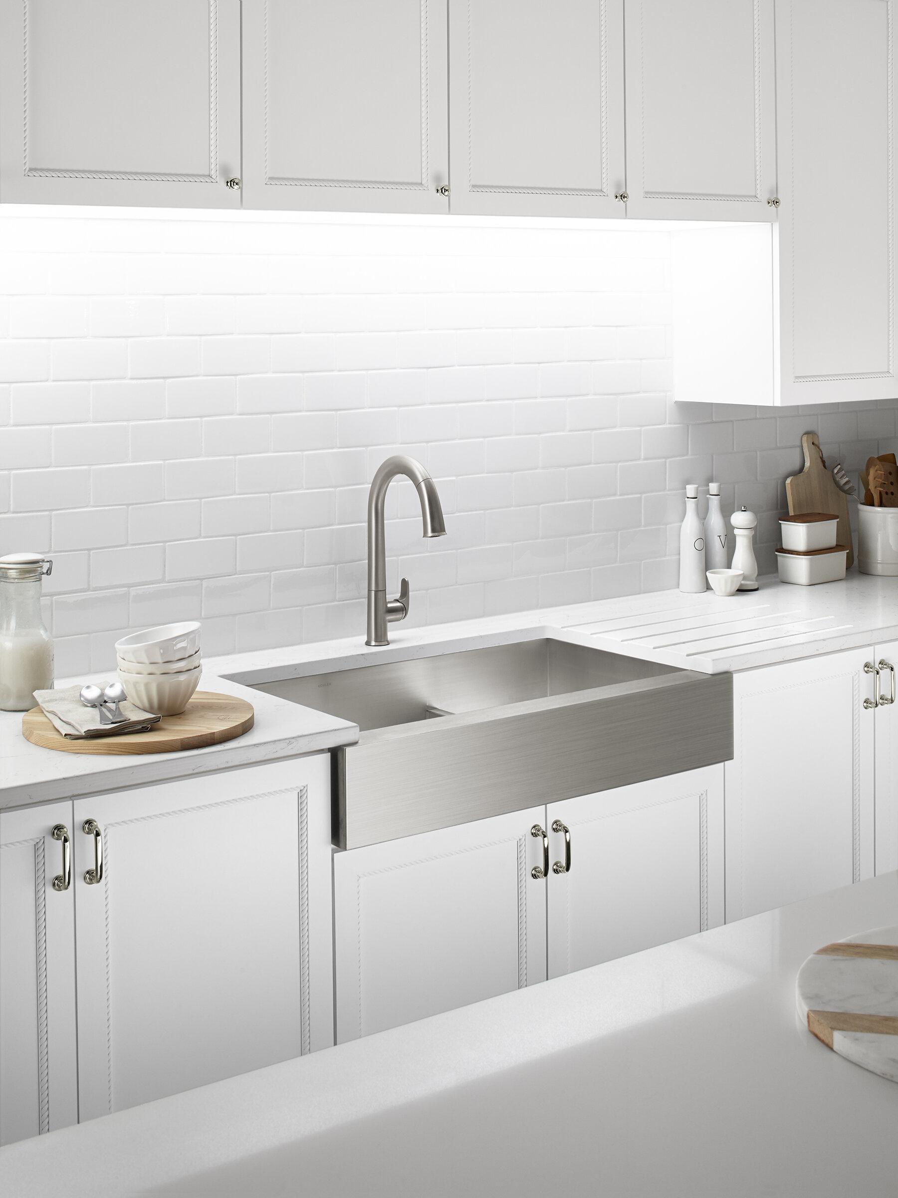 K 3945 Na Kohler Vault 36 L X 21 W Double Basin Farmhouse Kitchen Sink Reviews Wayfair