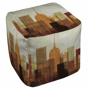 Summer in the City Pouf Ottoman by Manual Wo..