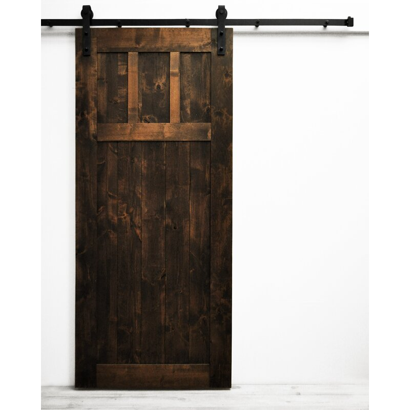 Craftsman Solid Wood Room Dividers Knotty Alder Slab Interior Barn Door