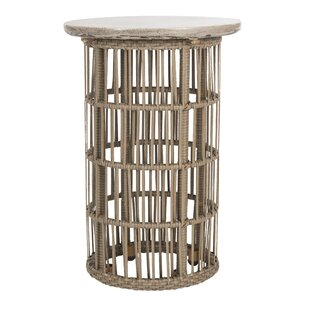 Lennon Concrete Side Table By World Menagerie