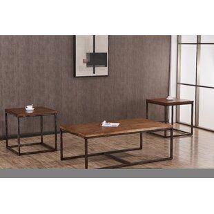 Wellman 3 Piece Coffee Table Set