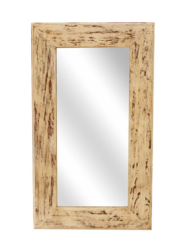 Rectangle Wood Accent Mirror #weatheredwood #farmhousemirror