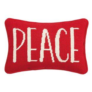 Blairwood Peace Needlepoint Lumbar Pillow