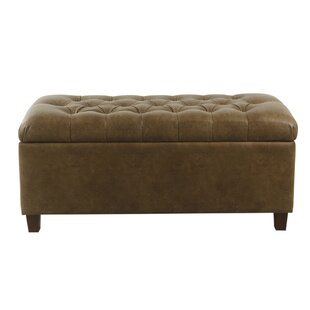 Tobin Faux Leather Storage Bench