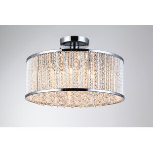 Chloe 6 -Light Semi Flush Mount by Rosdorf Park