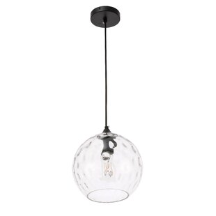 Zulma 1-Light Globe Pendant by Wrought Studio