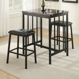 Kernville 3 Piece Counter Height Dining Set