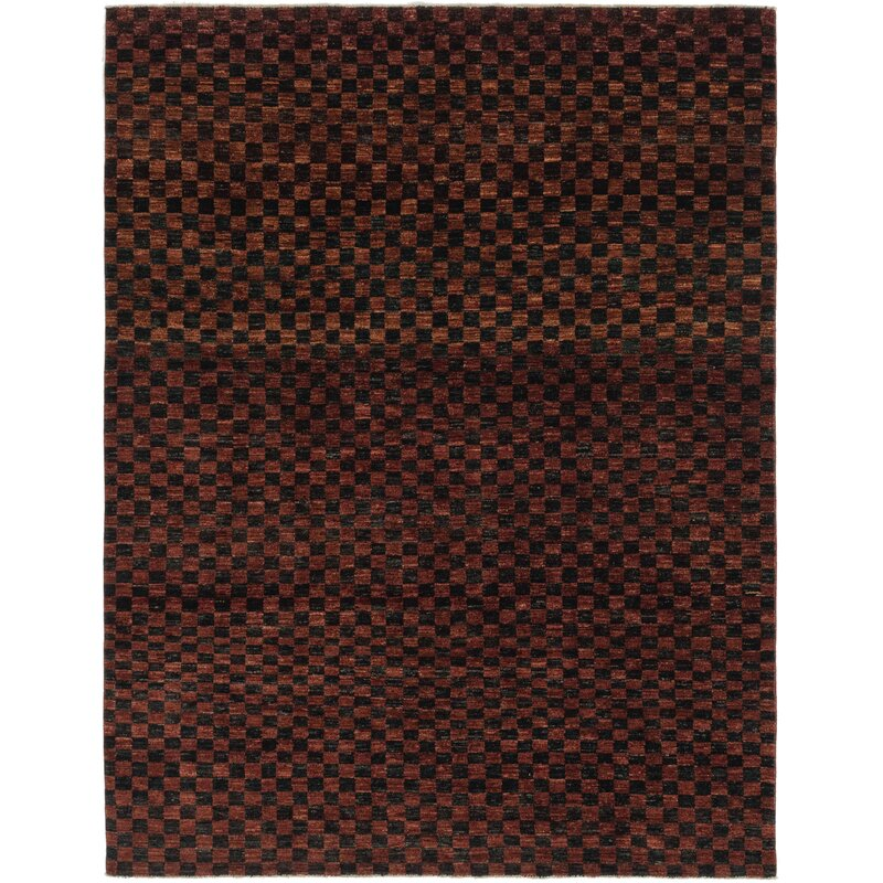 Isabelline One Of A Kind Nash Hand Knotted 7 X 9 Wool Brown Area