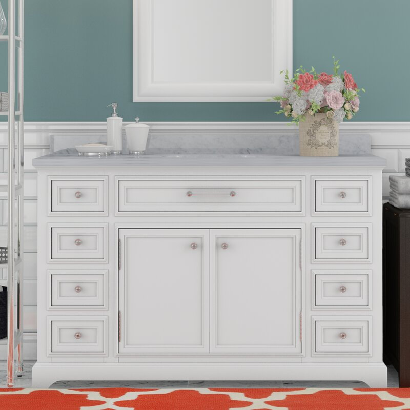 Colchester 48  Single Sink Bathroom Vanity Set White Darby Home Co