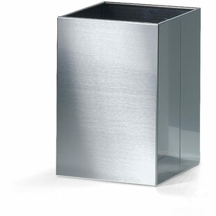 AGM Home Store Square Top Stainless Steel Open Waste Basket