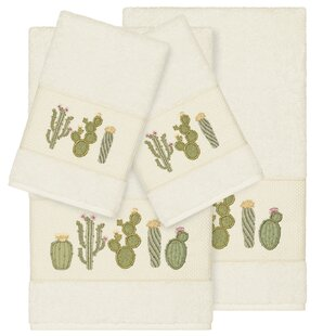 Hoeft Embellished 4 Piece Turkish Cotton Towel Set