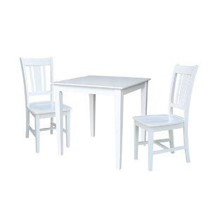 Rosecliff Heights Crocker 3 Piece Dining Set