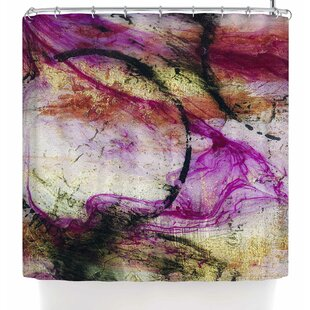 Malia Shields Abstracted Circles Series 3/3 Single Shower Curtain