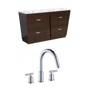 Review Vee 48 Double Bathroom Vanity Set by American Imaginations