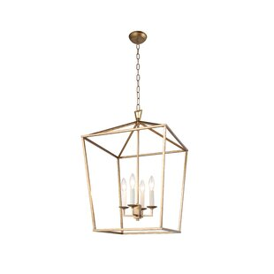 Bungalow Rose Sai 4-Light Lantern Pendant
