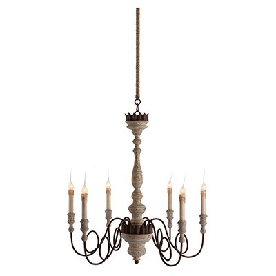 Mumaw 6-Light Candle-Style Chandelier #frenchcountry #frenchchandelier #farmhousestyle