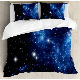 Constellation Outer Space Star Nebula Astral Cluster Astronomy Theme Galaxy Mystery Duvet Cover Set