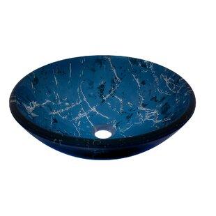 Buy clear Marmo Glass Circular Vessel Bathroom Sink By Novatto