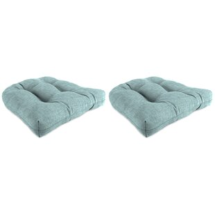 Searching for Set of 2 Indoor/Outdoor Wicker Chair Cushions (Set of 2) By Winston Porter