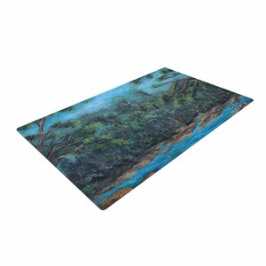 Cyndi Steen Don't Cut Me Down Blue/Nature Area Rug