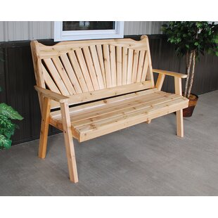 Gause Fanback Wood Garden Bench By Millwood Pines