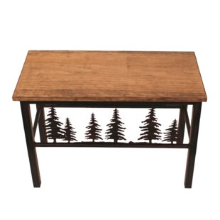 Millwood Pines Holden Feather Tree Scene Wood/Metal Bench