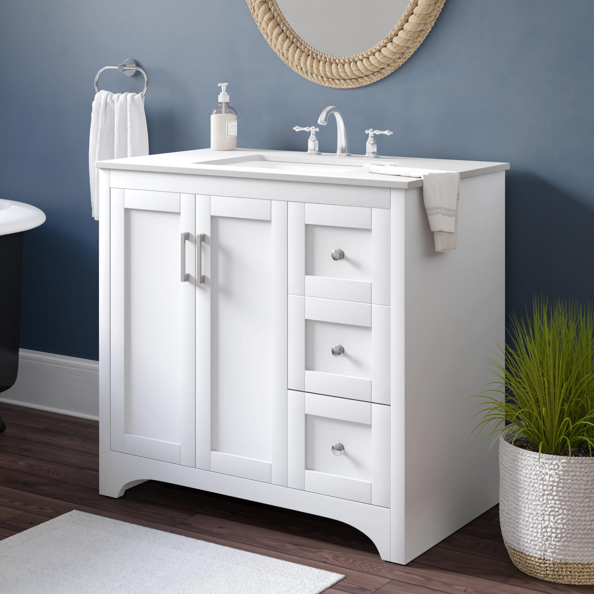 Beachcrest Home Hiroko 36 Single Bathroom Vanity Set Reviews Wayfair